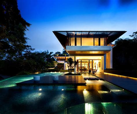 Modern Houses : The Tropical Dalvey Road House In Singapore By Guz
