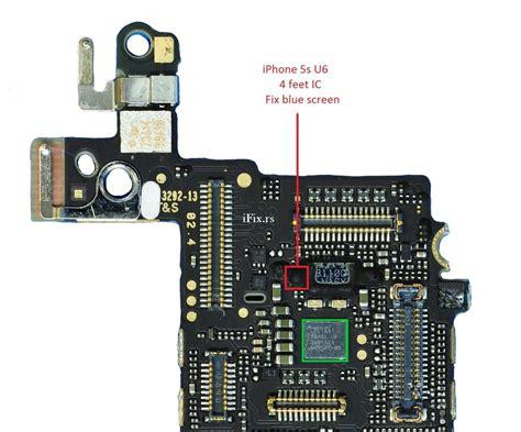how to screen on iphone 5s iphone 5s u6 blue screen bootloop fix repair chip heat