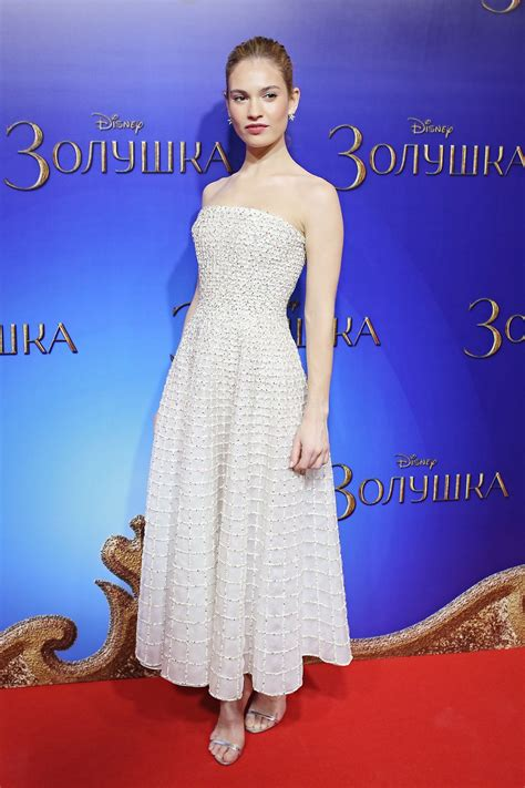 lily james cinderella promo  outfits glamour