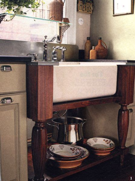 Farmhouse Sink Supported by Table Legs   Inspiration