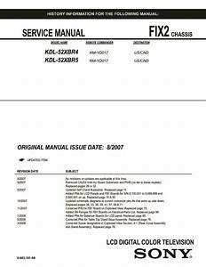 Sony Kdl-52xbr4  Kdl-52xbr5 Service Manual