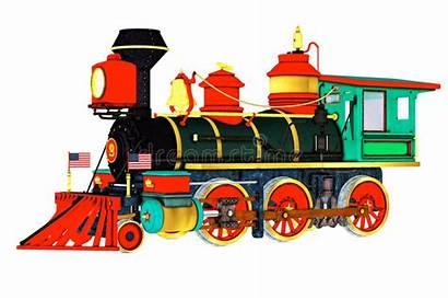 Train Steam Engine Illustration Clip Side American