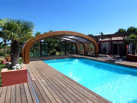 abri piscine bois haut cintr 233 ind 233 pendant abri piscinebelgique abrisud fabricant abri de