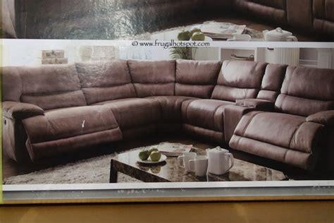 cheers microfiber reclining sofa costco cheers riverton 6 piece reclining sectional