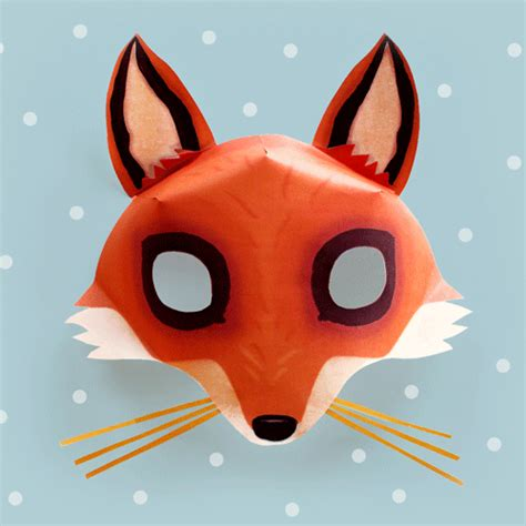 fox   minutes    easy mask template