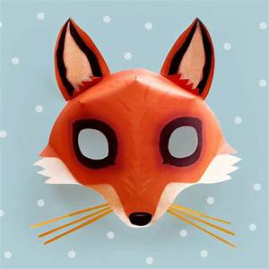 Be a Fox in 5 minutes - Try our free easy fox mask template!