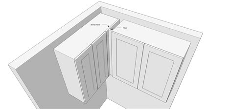 how to install a cabinet filler using fillers when designing kitchen cabinets popular