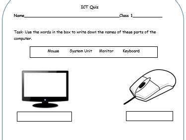 parts of a computer by ruthem teaching resources