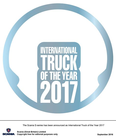 2017 Truck Of The Year by The New Scania S Series Has Been Announced As