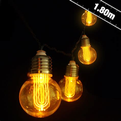 battery operated globe lights battery operated nostalgia bulb string lights party
