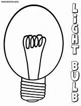 Lightbulb sketch template