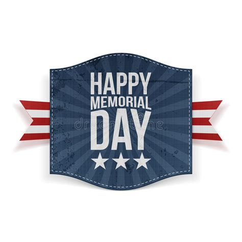 Happy Memorial Day Holiday Banner Stock Vector ...