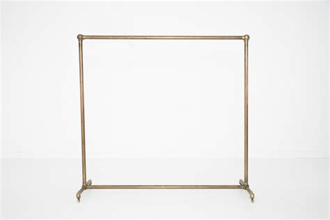 gold clothing rack brass garment rack patina