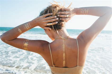 wear metallic temporary tattoos fashionsycom