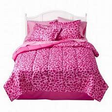 Xhilaration Full Bed In Bag Pink Cheetah Comforter Sheet
