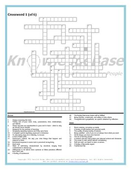 character education crossword puzzles volume  full