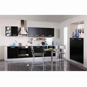 Meuble D Angle Haut Cuisine : meuble haut d 39 angle 1 porte 60cm smarty noir ~ Teatrodelosmanantiales.com Idées de Décoration