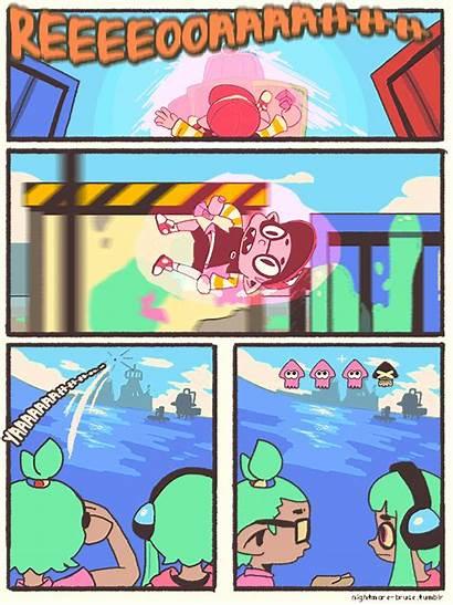 Splatoon Comic Bubble Bubbler Ribbon Hit