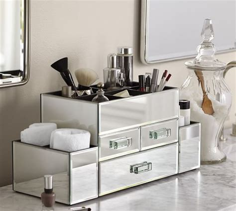 Mirrored Bathroom Storage by Mirrored Makeup Storage B A T H R O O M Makeup Storage