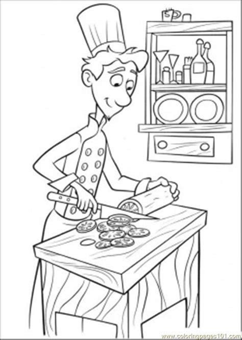 cuisiner la ratatouille coloring pages linguini is cooking gt ratatouille