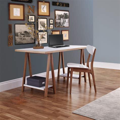 bureau a bureau à tréteaux design et pratique highbury drawer fr