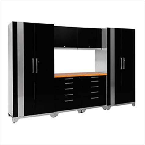 red and black garage cabinets newage products 36660 7 piece garage cabinet system
