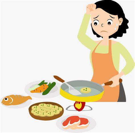 trotro fait la cuisine 煮饭的妈妈素材图片免费下载 高清卡通手绘psd 千库网 图片编号7777529