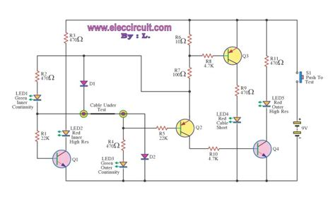 Coaxial Cable Tester Circuit Diagram World