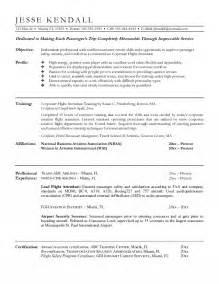 flight attendant resume format flight attendant resume