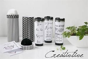 Tasse Gestalten Dm : diy thermobecher gestalten mit pilot kreativ set creativlive ~ Orissabook.com Haus und Dekorationen