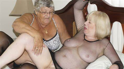 My Grandma Enjoying To Kissing And Fucked Shy Old Lezbo Bitches