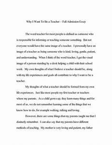 admission college essay examples najmlaemahcom With college admission essay