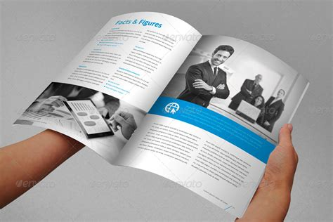 annual report brochure indesign template  braxas