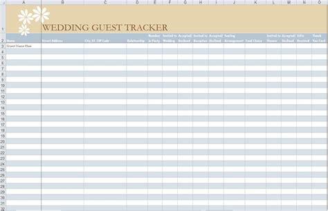 wedding guest list template wedding guest list