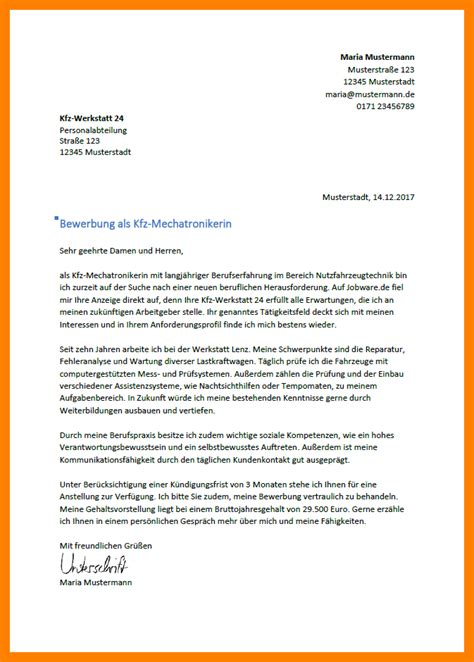 bewerbungsschreiben kfz mechaniker connecticut network