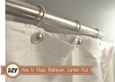 how to make a shower curtain rod for clawfoot tub how to make your own bathroom curtain rod