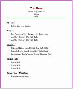 simple resume samples template resume builder With best simple resume format