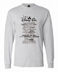 Gildan Tee Color Chart I Am A Disney Girl Quotes Sweatshirts
