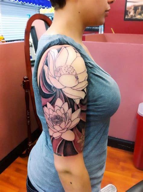 crazy  sleeve flowers tattoos  women tattoo ideas pinterest  flowers  women