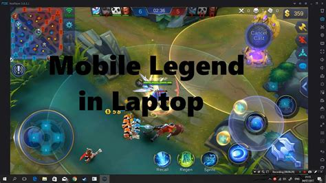 [tutorial] Play Mobile Legend Use Laptop Or Pc