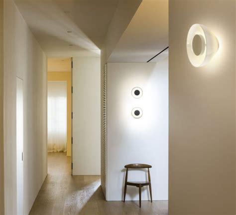 wall light aura white led 216 25 3cm d9 5cm marset