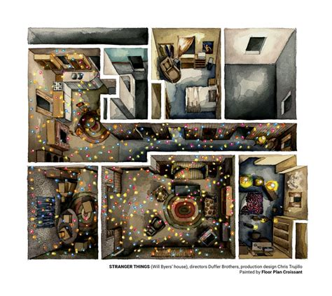 3 Bedroom House Floor Plan by Stranger Things Rendered In Amazing Plans Archdaily