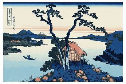 Hokusai Views Fuji Mount Clipart Mt Thirty