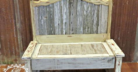 rustic bench  headboard   fence hometalk