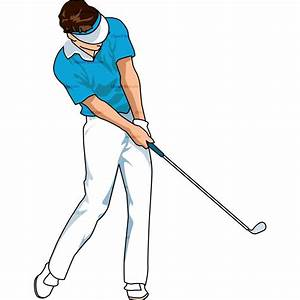 golfer swinging clipart - Clipground