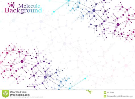 Molecule Structure Dna And Communication Background