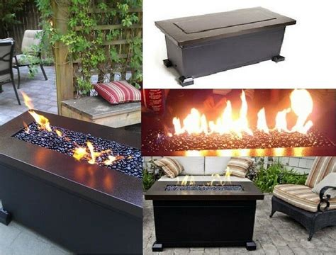 *new Outdoor Fire Pit Heater Propane Gas Fireplace Patio
