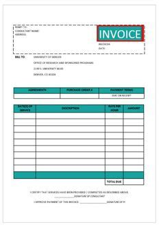 consultant invoice templates images invoice template