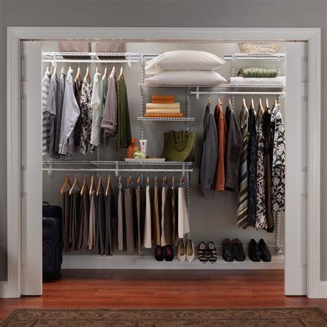 closetmaid closet organizer closetmaid shelftrack 7 10 ft adjustable organizer kit