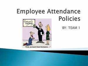 Employee Attendance Policy